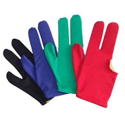 10 Billiards Pool Snooker Cue Shooters 3 Fingers Gloves
