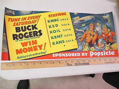 BUCK ROGERS 1930s Popsicle radio premium space ship rocket store display poster