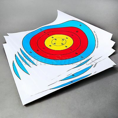 5pcs 40x40cm Paper Target Faces for Archery Shooting Hunting Crossbow Bow Arrow