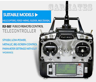 Flysky FS-T6 2.4GHz 6-CH Radio RC System Left/Right Transmitter+ Receiver for RC