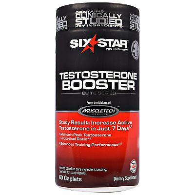 New Muscletech Six Star Pro Nutrition Men Testosterone Booster E Series 60 Caps