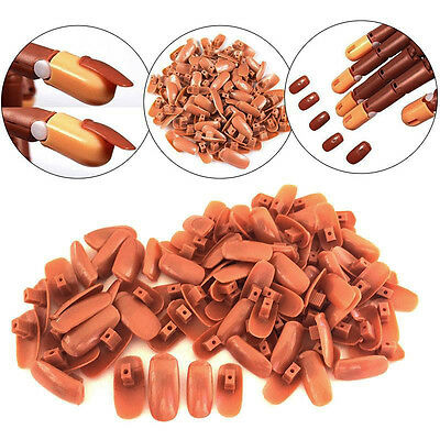 100/200 Pcs Replacement Refill Nails Tips for Flexible Nail Practice Hand