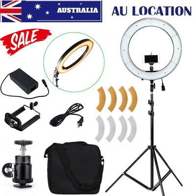 """19"""" 48.5 55W LED Ring Light Dimmable Home Studio Makeup Soft Pro Photo Kit Stand"""