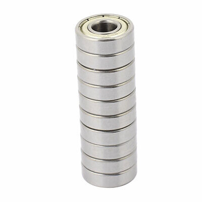 10pcs Metal Deep Groove Sealed Shielded Ball Bearing 7mmx17mmx5mm Silver Tone