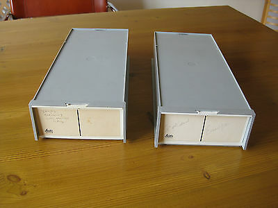Slide Boxes With Magazines  2 X 36 Slides - Leitz Or Braun Make