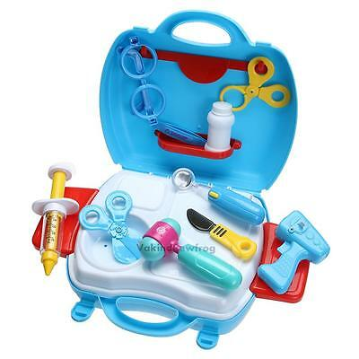 Educational Doctor Case Kit Medical Set Hospital Supplies Toy Kids Pretend Play#