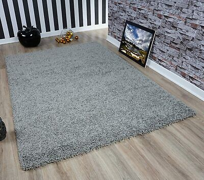 Fluffy Grey Thick Non Shed Shaggy Area Rugs Modern Dining Room Carpet Floor Mat
