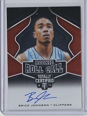 Brice Johnson 2016-17 Totally Certified Rookie Roll Call Autograph