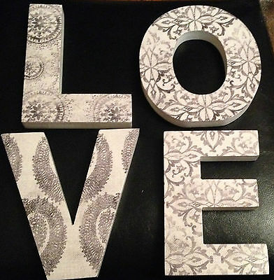 "Job Lot Heart of House Palazzo ""Love"" 3D wall art sign x 10"