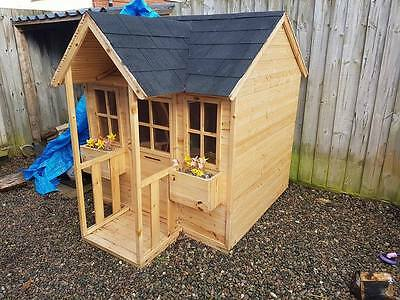 Tp Forest Mansion Outdoor Playhouse Childrens Garden Wooden Wendy House Shingles