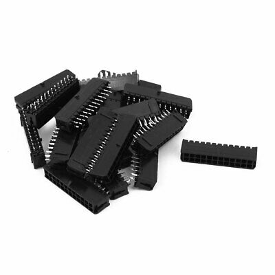 20pcs Two Row 24P 3.0mm Pitch Straight Pin Header Socket Connector for PCB Board