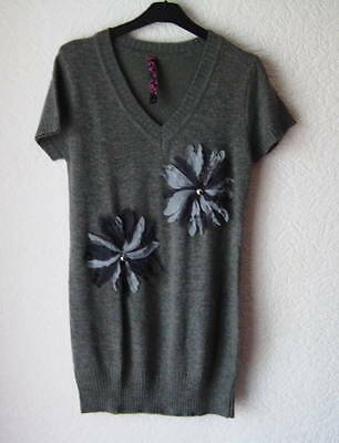 Pull femme neuf gris tendre taille L/XL