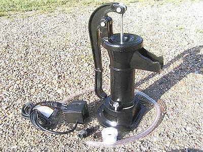 Black Cast Iron Garden Water Well Hand Pump as COMPLETE Fountain