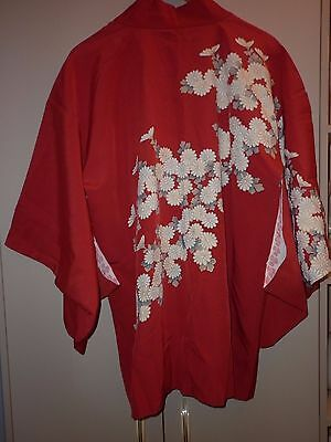 Vintage Japanese Silk Kimono Jacket Size Small Excellent  Condition