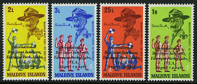 Maldive Islands 1968 Scouts and Cubs opt Boy Scout Jamboree MNH