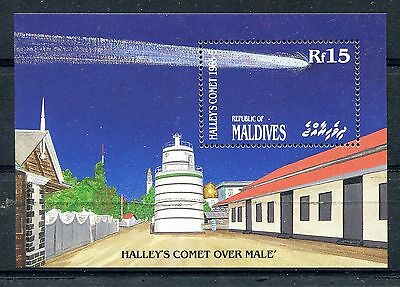 Maldive Islands 1986 Halley's Comet MS MNH