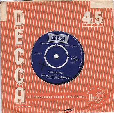 "John Mayall`s Bluesbreakers..double Trouble..good 1967 Decca Pop / Blues 7""12621"