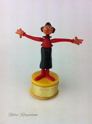 VINTAGE Olive Oyl Push Button Puppet Toy - Kohner Brothers