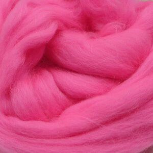 Candy Pink Merino wool tops for felting & giant knitting