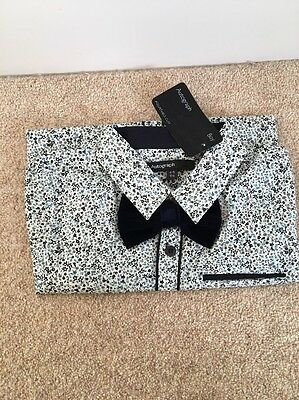 Autograph M&S Boys Shirt And Bow tie Size 4-5 BNWT