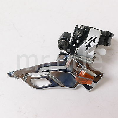 mr-ride Shimano XT Down Swing,Front Derailleur FD-M781 34.9mm Clamp On Silver