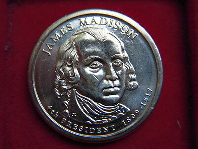 A One Dollar Coin From The Usa To Commemorate  James Madison 1809-1817
