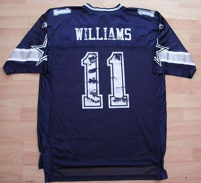 Dallas Cowboys Reebok Nfl American Football Shirt Top Jersey Large #11 Williams