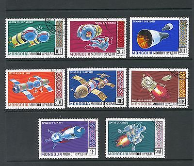 Mongolia 1971 SG 594-601 Space Research  CTO