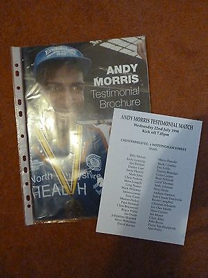 Andy Morris Test Chesterfield V Forest With Teamsheet