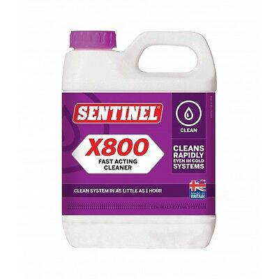 Sentinel X800 Fast Acting Central Heating Cleaner Jetflo 1 Litre Brand New