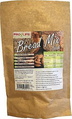 Low Carb Bread Mix - Dark: High Protein, Atkins, Dukan, Low Fat, Healthy