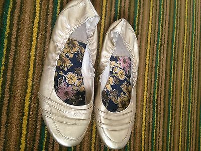 Diesel Gold Leather Flats Size 41 Size 7