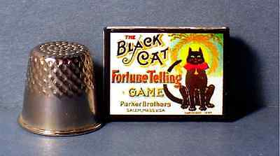 Dollhouse Miniature 1:12 Black Cat Fortune Telling Game dollhouse gypsy game toy