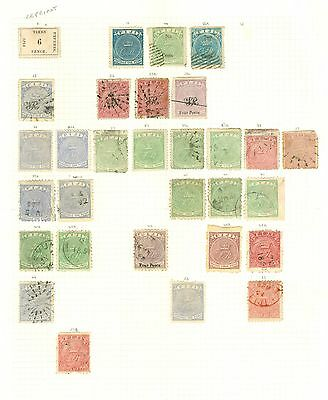 Early Fiji 1871-1902 mint & used selection on 3 album leaves. Condition mixed...