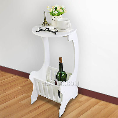 Round Coffee Tea Magazine Bedside Cabinet Table Sofa Side End Table Table Rack