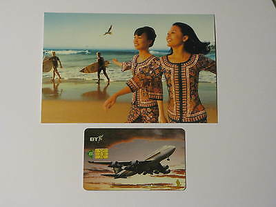 Singapore Girls, Post Card & Singapore Airlines Telephone Card
