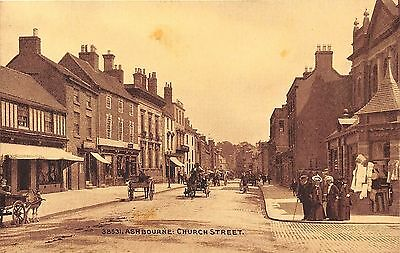 POSTCARD   DERBYSHIRE   ASHBOURNE   Church  Street