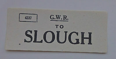 Small Great Western Railway (Gwr) Luggage Label To Slough