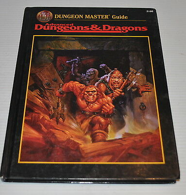 Advanced Dungeons & Dragons DUNGEON MASTER GUIDE BOOK 2160 AD&D TSR