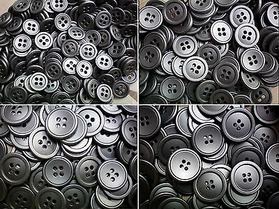 25mm 40L Silver Grey Metal 4 Hole Industrial Jacket Buttons Button X MB3E