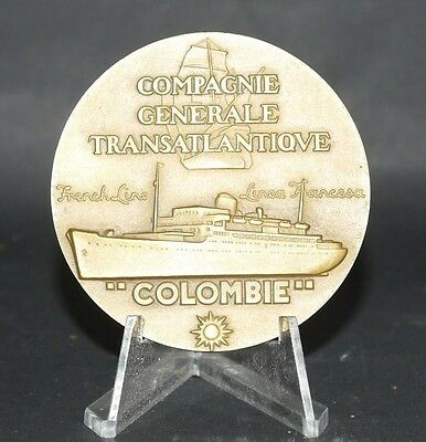 Colombie (French Line - Cgt) Bronze Launch Medallion