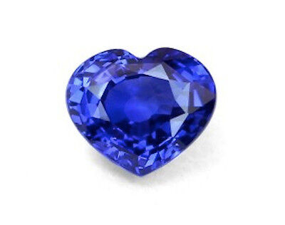 Heart Bright Blue Lab Created Sapphire (4x4mm to 14x14mm)
