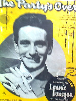 Lonnie Donegan Music Sheet The Party's Over