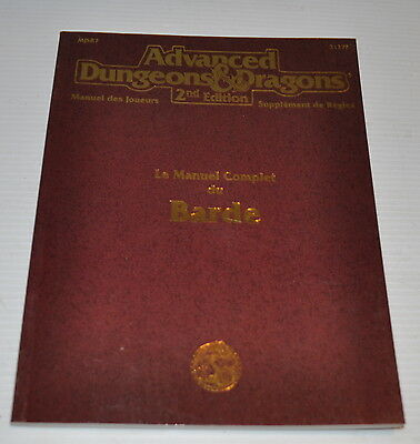 MANUEL COMPLET DU BARDE (Bard) French Advanced Dungeons & Dragons BOOK 2127F