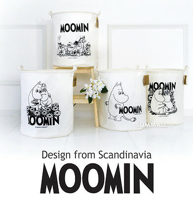 Moomin Waterproof Foldable Linen Laundry Basket Clothes Toys  Bag Bins Strorage