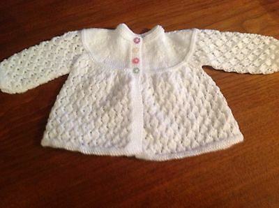 Baby Cardigan Hand Knit 'retro Matinee Jacket Baby Clothing 3 Month