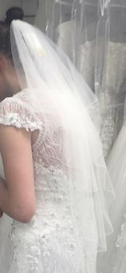 beautiful richard designs sheer ivory veil 54 inches long