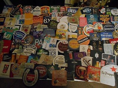 100+ Different Mixed Beer Mats (Ppp)