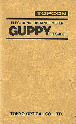New Topcon GUPPY Model GTS-10D Instruction Manual