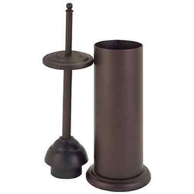 Bath Bliss Toilet Plunger with Decorated Rim, Oil Stained Bronze Finish